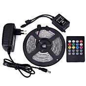 Sets de Luces 300 LED RGB Control remoto Cortable Regulable Impermeable Color variable Auto-Adhesivas Adecuadas para Vehículos Conectable