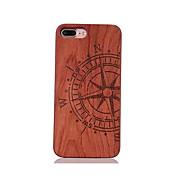 용 충격방지 엠보싱 텍스쳐 패턴 케이스 뒷면 커버 케이스 카툰 하드 나무 용 Apple 아이폰 7 플러스 아이폰 (7) iPhone 6s Plus/6 Plus iPhone 6s/6 iPhone SE/5s/5