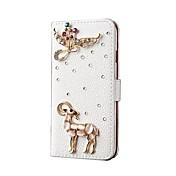 용 카드 홀더 스탠드 케이스 풀 바디 케이스 동물 하드 인조 가죽 용 Apple iPhone 6s Plus/6 Plus iPhone 6s/6