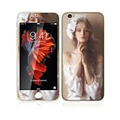 para Apple iPhone 6s / 6 4.7 vidrio templado con el protector de pantalla frontal cobertura pantalla completa borde suave y el patrón de