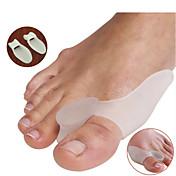 Pie Dedo del pie y Separadores de juanete Pad Corrector de Postura Portátil Silicona