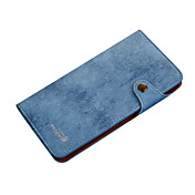 Etui Til iPhone 7 Plus iPhone 7 Apple iPhone 7 Plus iPhone 7 Lommebok Flipp Heldekkende etui Helfarge Hard PU Leather til iPhone 7 Plus