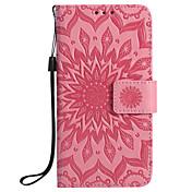Etui Til Samsung Galaxy S7 edge S7 Kortholder Lommebok med stativ Flipp Mønster Inngravert Heldekkende etui Mandala Hard PU Leather til