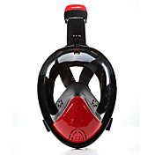 Snorkelmaske Dykkermasker Anti-Tåke Lekkasjesikker 180 grader Heldekkende maske Svømming Dykking Silikon