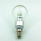 1pc 3.5W 350 lm E14 LED-globepærer 8 leds SMD 5730 Dekorativ Varm hvit AC220 AC 85-265V