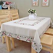 Rectangular Floral Forros de Mesa , Lino MaterialHotel Dining Tabla Decoración del banquete de boda Cena banquete de la boda Decoración
