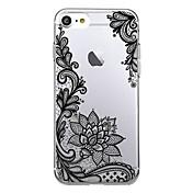 Para iPhone X iPhone 8 Carcasa Funda Ultrafina Transparente Diseños Cubierta Trasera Funda Impresión de encaje Suave TPU para Apple