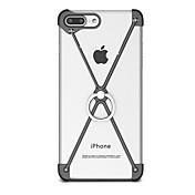 Para con Soporte Soporte para Anillo Funda Acolchada Funda Un Color Dura Aluminio para AppleiPhone 7 Plus iPhone 7 iPhone 6s Plus/6 Plus