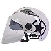 GXT motocicleta M11 medio casco de doble lente de casco protector solar Harley unisex verano adecuado para 55-61cm con lente transparente