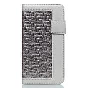 Etui Til iPhone 7 Plus iPhone 7 Apple Kortholder Støvtett med stativ Heldekkende etui Helfarge Hard PU Leather til iPhone 7 Plus iPhone 7