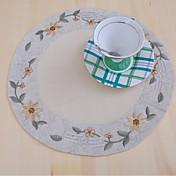 라운드 자수 식탁매트 컵받침 , 100% 면 자료 저녁 식사 장식 부탁