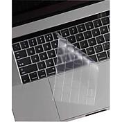 xskn® ultra-tynn og gjenno TPU tastatur hud og berøringsfeltet beskytter for 2016 nyeste macbook pro 13.3 / 15.4 med berørings bar hinnen