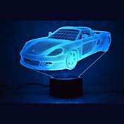 1 stk 3D nattlys Mangefarget Usb Sensor Mulighet for demping Vanntett Fargeskiftende