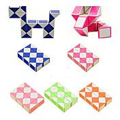 Rubiks kube 3*3*3 Glatt Hastighetskube Slangekuber Pedagogisk leke Kubisk Puslespill Glatt klistremerke Plast Kvadrat Gave