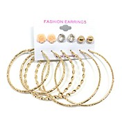 Mujer Pendientes cortos Pendients de aro Perla artificial Colgante Las formas múltiples de desgaste joyería de disfraz Perla Legierung