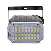 U'king mini control de sonido iluminación de la etapa del proyector del estroboscópico del sitio de los leds del blanco 36pcs para el