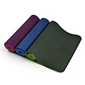 TPE Yoga Mats Antideslizante Pegajoso Impermeable Secado rápido 6 mm Rosa Verde Morado