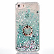 Funda Para Apple iPhone X / iPhone 8 / iPhone 8 Plus Líquido / Soporte para Anillo Funda Trasera Un Color Dura ordenador personal para iPhone X / iPhone 8 Plus / iPhone 8