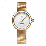 SK Mujer Reloj de Vestir Reloj de Moda Cuarzo Resistente al Agua Resistente a los Golpes Aleación Banda Encanto Lujo Casual Minimalista