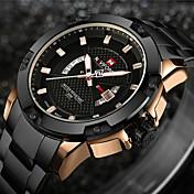 NAVIFORCE Hombre Reloj Deportivo / Reloj Militar / Reloj de Pulsera Japonés Calendario / Resistente al Agua / Creativo Acero Inoxidable Banda Encanto / Lujo / Vintage Negro / Plata / Luminoso
