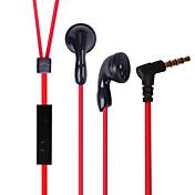 Newmine nm-xk07 auricular móvil para teléfono celular ordenador en-oído con cable tpe 3,5 mm con micrófono de cancelación de ruido