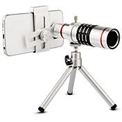 Høy kvalitet 18x zoom optisk teleskop teleobjektiv telefon kameralinser med stativ for iphone 6 7 samsung s7 xiaomi mi6
