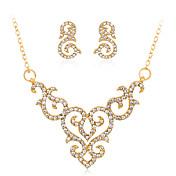Mujer Brillante Conjunto de joyas 1 Collar / 1 Par de Pendientes - Euramerican / Moda Forma Geométrica Dorado Juego de Joyas / Collar Para