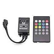 Supernight controlador de música infrarroja 20 teclas ir control remoto controlador de sonido del sensor para 5050 3528 5630 rgb llevó