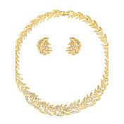 Mujer Juego de Joyas Collar Moda Euramerican Boda Fiesta Ocasión especial Cumpleaños Pedida Diario Brillante Legierung 1 Collar 1 Par de