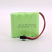 ni-mh batería 1800mah aa 4.8v sm cabeza de alta calidad (color verde)