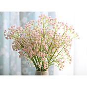 1 Rama Seda Gipsófila Flor de Mesa Flores Artificiales