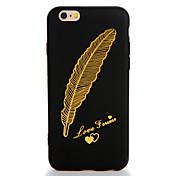 Etui Til Apple iPhone 7 Plus iPhone 7 Mønster Bakdeksel Fjær Myk TPU til iPhone 7 Plus iPhone 7 iPhone 6s Plus iPhone 6s iPhone 6 Plus