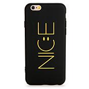 Etui Til Apple iPhone 7 Plus iPhone 7 Mønster Bakdeksel Ord / setning Myk TPU til iPhone 7 Plus iPhone 7 iPhone 6s Plus iPhone 6s iPhone