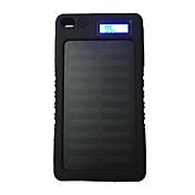 8000mAh 전원 은행 외부 배터리 5V 1.0AA 배터리 충전기 플래쉬 라이트 태양열 충전 LCD