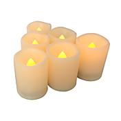 Sett med 6 flameless stearinlys flameless votive candles led votives med timeren batteridrevne ledet lys med timer lang batterilevetid