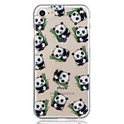 Etui Til Apple iPhone 8 iPhone 8 Plus Mønster Bakdeksel Panda Myk TPU til iPhone 8 Plus iPhone 8 iPhone 7 Plus iPhone 7 iPhone 6s Plus