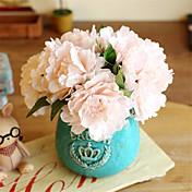 Kunstige blomster 5 Gren Europeisk Stil Peoner Bordblomst