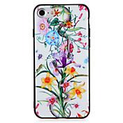 Caso para la manzana iphone7 7 más la PC dura del patrón animal de la flor para el iphone 6s más 6 más 6s 6