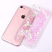 Etui Til Apple iPhone X iPhone 8 iPhone 8 Plus Etui iPhone 5 Flommende væske Gjennomsiktig Bakdeksel Glimtende Glitter Hard PC til iPhone