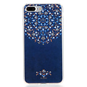 Para la caja de la contraportada del patrón de la cubierta del caso del iphone 7 7plus de Apple flor suave tpu 6s más 6 más 6s 6