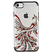 Para Carcasa Funda Diamantes Sintéticos Transparente Diseños Cubierta Trasera Funda Animal Suave TPU para AppleiPhone 7 Plus iPhone 7