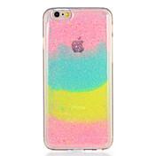 Para la caja de la contraportada del patrón de la cubierta del caso de la manzana iphone7 7plus brillo del brillo del gradiente del color