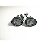 Faros principales del coche eléctrico faros llevados brillantes estupendos de la motocicleta espejo retrovisor 12v24v modificó el par