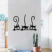 Dyr fritid Højtid Veggklistremerker 3D Mur Klistremerker Dekorative Mur Klistermærker 3D, Papir Hjem Dekor Veggoverføringsbilde Vegg Vindu