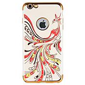 Para Carcasa Funda Diamantes Sintéticos Diseños Cubierta Trasera Funda Animal Suave TPU para AppleiPhone 7 Plus iPhone 7 iPhone 6s Plus