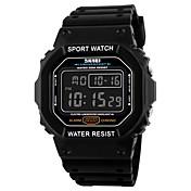 SKMEI Hombre Reloj Deportivo Reloj digital Digital Calendario Resistente al Agua Cronómetro PU Banda Negro