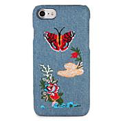 애플 아이폰 7 플러스 / 7 커버 패턴 다시 커버 케이스에 대 한 케이스 나비 꽃 하드 pc 아이폰 6s 플러스 / 6 플러스 / 6s / 6