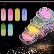 Pleie Glitter Powder Paljetter Klassisk Glamour Skinnende Høy kvalitet Daglig Nail Art Design