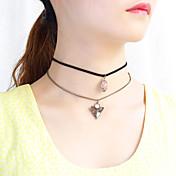Mujer Gargantillas Collares con colgantes Collares en capas La imitación de diamante Nailon Las formas múltiples de desgaste Joyas Para