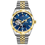 Hombre El reloj mecánico Reloj Esqueleto Reloj de Moda Reloj Deportivo Cuerda Automática Calendario Resistente al Agua Noctilucente